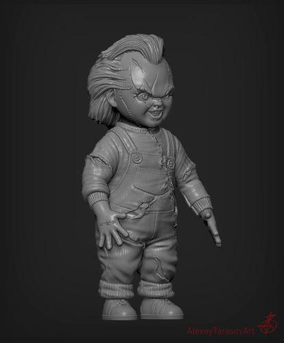 chucky doll  3d model obj mtl fbx stl ztl 1