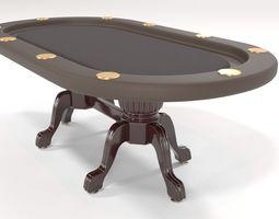 Elite Poker Table 3D model