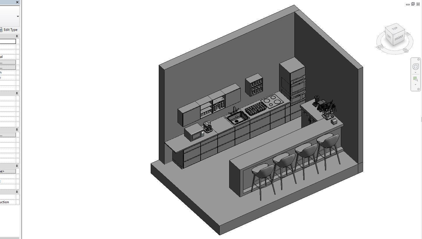 Kitchen for revit | 3D model