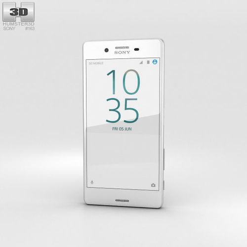 sony xperia x performance white 3d model max obj mtl 3ds fbx c4d lwo lw lws 1