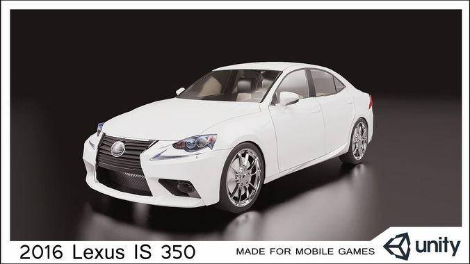 2016 lexus is 350 3d model low-poly fbx 1