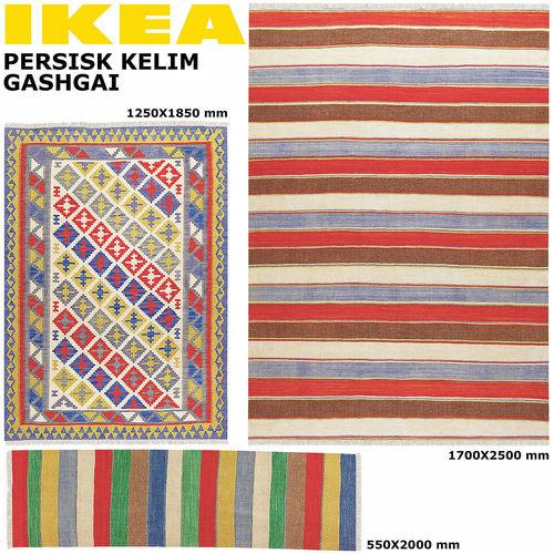 Ikea Kelim ikea persisk kelim gashgai carpets set 3d model