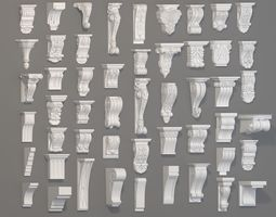 Corbels Collection -1 - 51 pieces architecture 3D