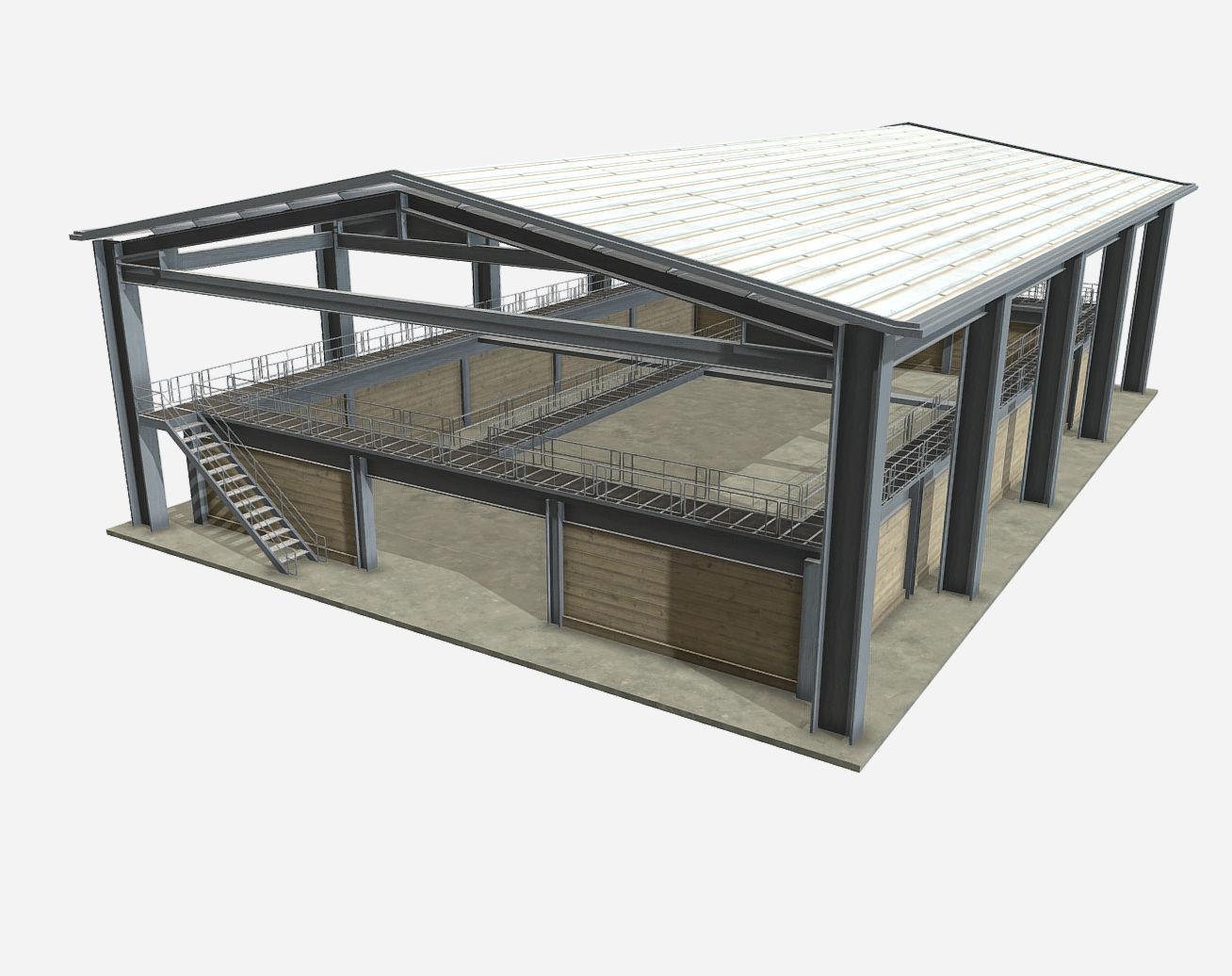 Low Poly PBR Farm Warehouse