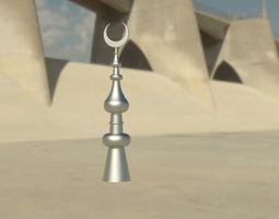 3D model mosque tower