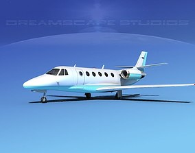Cessna C560XL Citation V11 3D model rigged