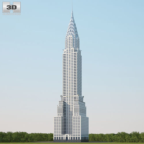 chrysler building 3d model max obj fbx c4d lwo lw lws ma mb 1