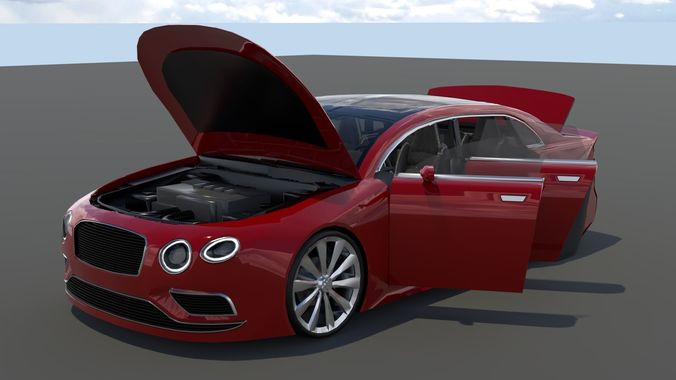 Generic Small 4 Door Sedan Model Obj Mtl S Fbx Stl Blend Dae 1