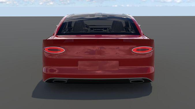 Generic Small 4 Door Sedan Model Obj Mtl S Fbx Stl Blend Dae 3