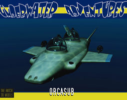 3D asset High performance submersible Orcasub
