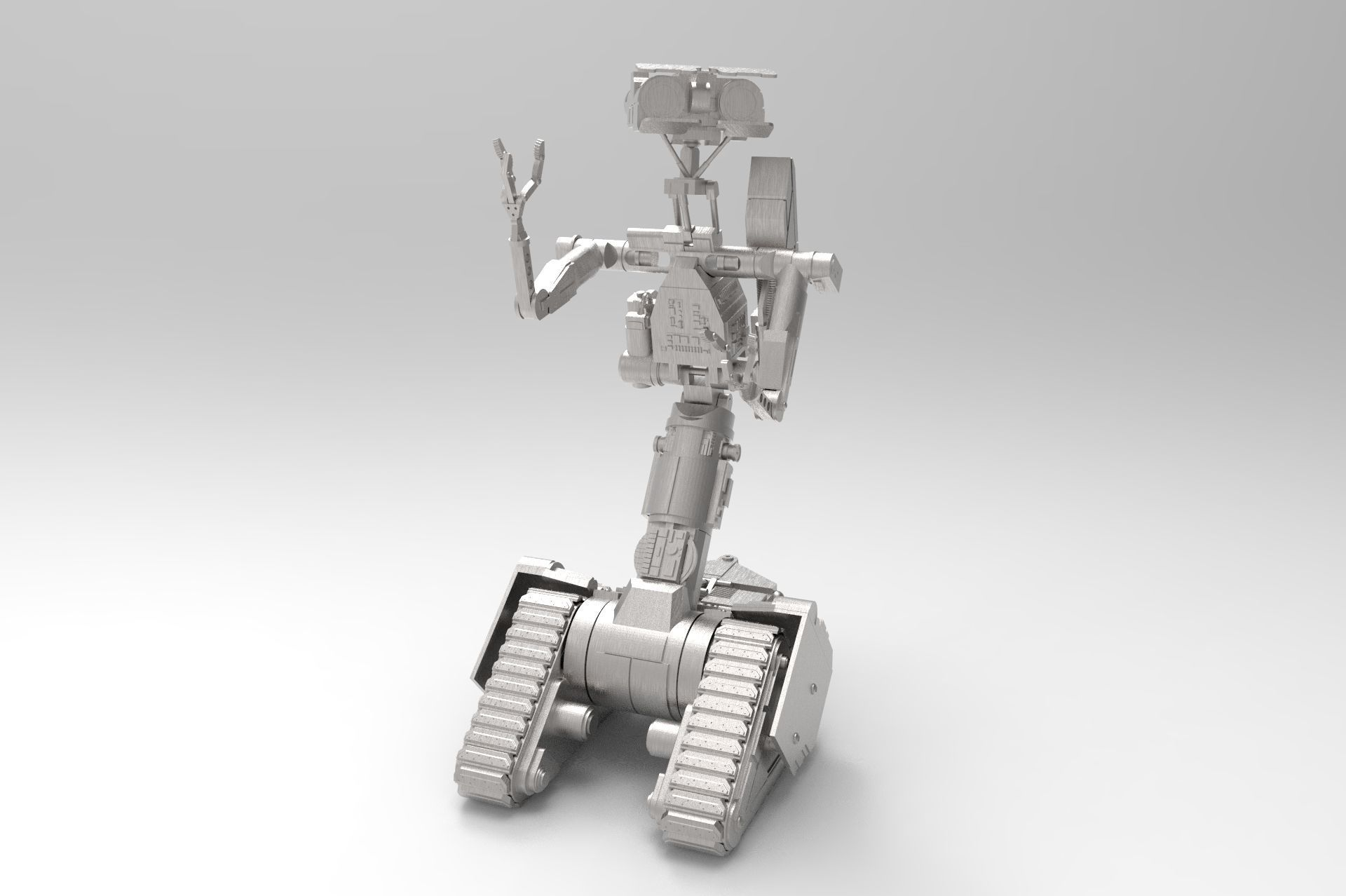 Short Circuit Robot Stl Enthusiast Wiring Diagrams Robots Toy Number 5 3d Printable Model Cgtrader Rh Com Cute Name