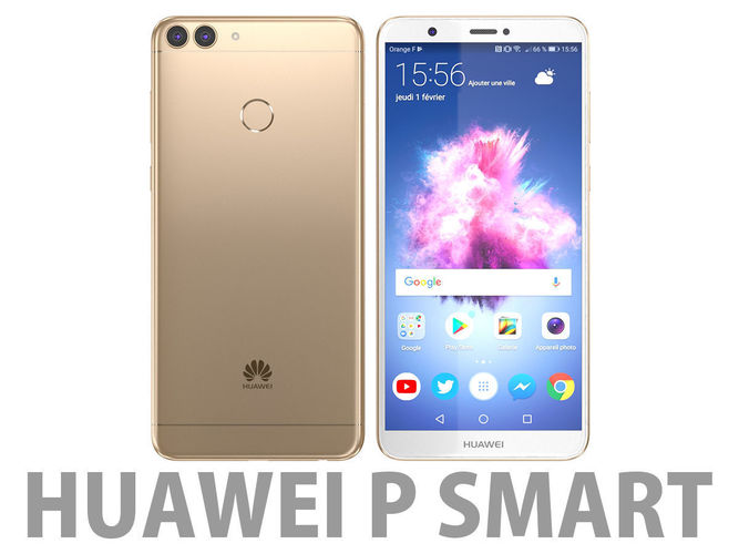 Smart Car In >> Huawei P smart Gold 3D   CGTrader