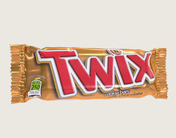 3D asset Twix Chocolate Bar