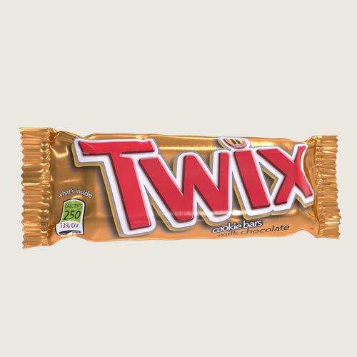 twix chocolate bar 3d model max obj mtl fbx ma mb 1