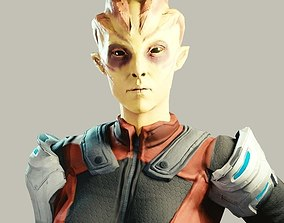3D asset Female Alien