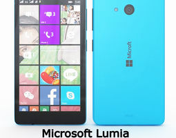 Microsoft Lumia 540 Dual SIM Blue 3D