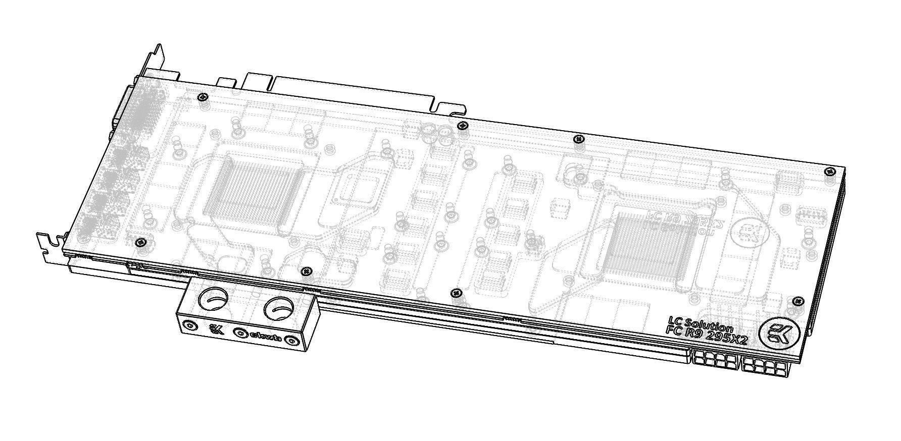 Schematic 3d Block Models Software Help Amd R9 295x2 And Ek Water Model Stl Sldprt Sldasm Slddrw
