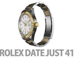 3D Rolex Datejust 41 Yellow Gold