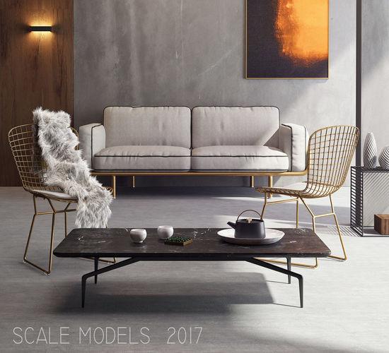 living room 092 3d model max 1