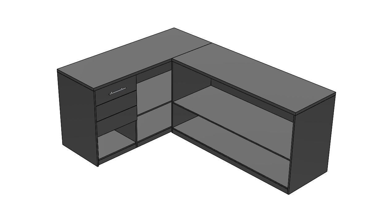 l shape stand cabinet low poly 3d vr ar 3d model realtime l shape stand cabinet low poly 3d vr ar 3d model 3d model