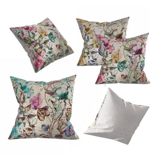 floral pillow set 3d model obj mtl 3ds fbx dae 1