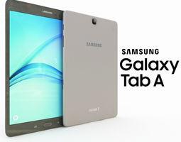 3D model Samsung Galaxy Tab A 9 Smoky Titanum
