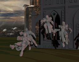 3D print model Sisters of War - Angelus Squad