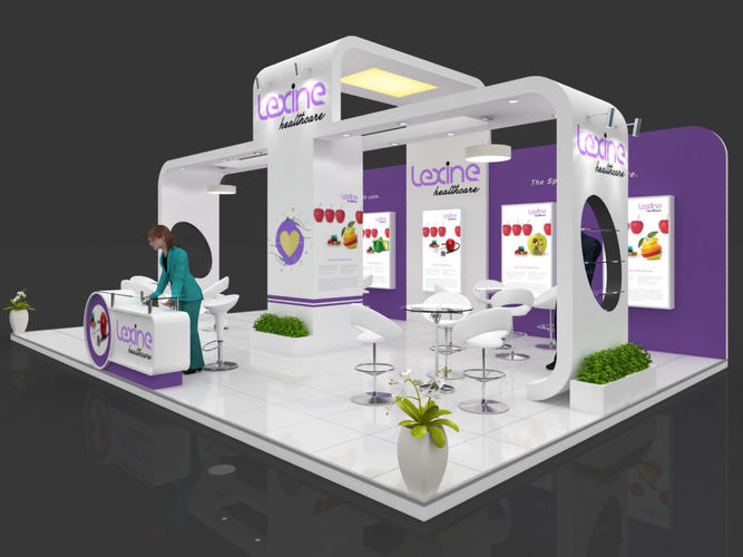 Exhibition Stall Reception : Exhibition stall d model mtr sides open pharma