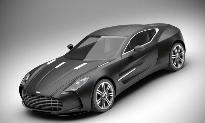 Beautiful Aston Martin ONE 77 3D Model