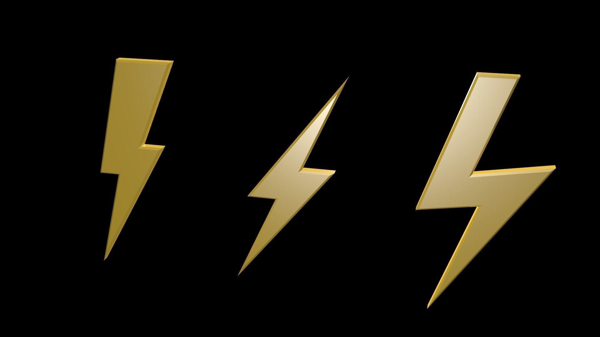 3d Asset Low Poly Thunder Symbols 1 Cgtrader