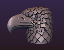 Eagle head stylized 3D printable model