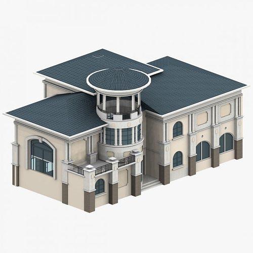 Structural 3d Villa Cgtrader