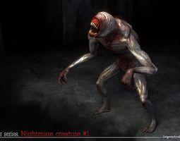 3D asset Nightmare Creature 1