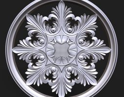3D print model Carved Rosette decor element 01