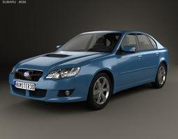 3D model Subaru Legacy 2008
