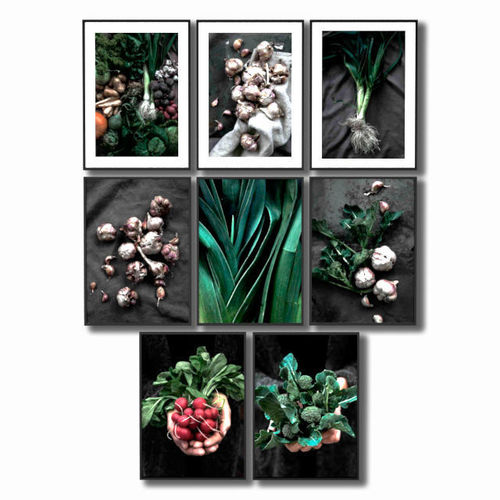 posters with vegetables for the kitchen 3d model max 1