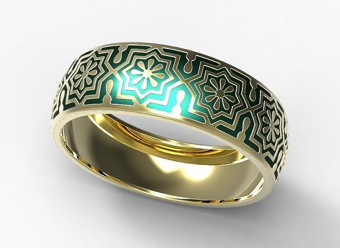 modernist ring gaudi enamel barcelona en shop rings