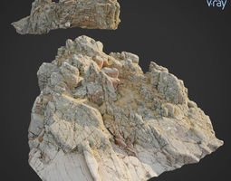 3d scanned rock cliff W