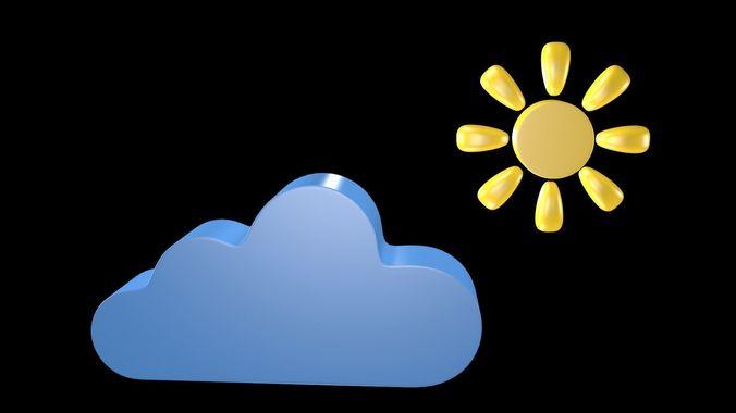 weather symbol 2 3d model obj mtl 3ds fbx blend x3d ply 1