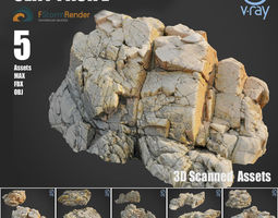 Cliff pack E bundle 3D model