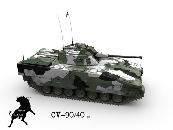 stridsfordon 90 or cv 90 ifv 3d model