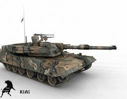 K1 A1 South Korean Army Scheme 3D model
