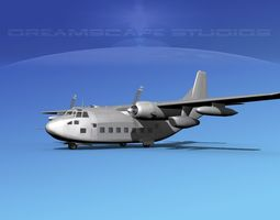 3D model rigged Fairchild VC-123K Provider Bare Metal