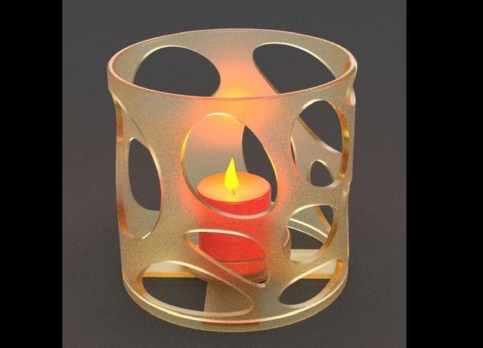 candlestick 3d model max obj mtl stl 1