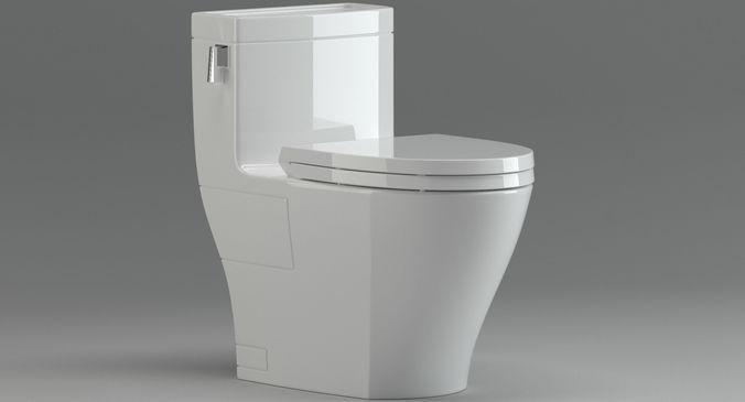 Toto Legato Ms624214cefg Toilet Model Max Obj Mtl Fbx 1