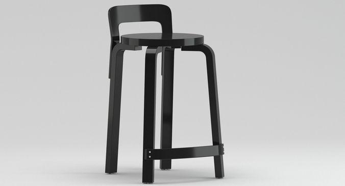 Artek Alvar Aalto K65 Chair 3D Model