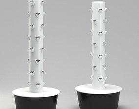 Future Growing Garden Plant Tower 3D