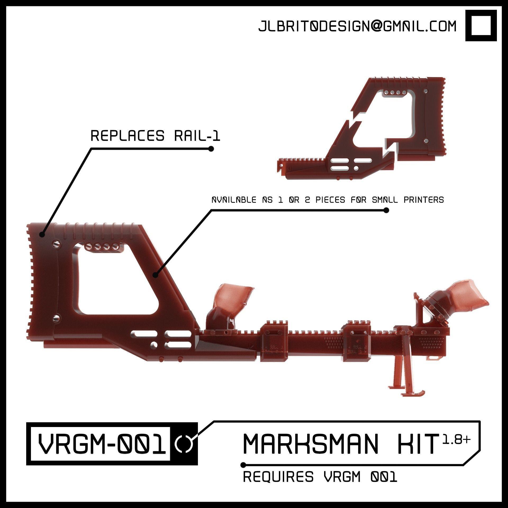 VRGM 001 Marksman Kit for Oculus Vive Odyssey WMR
