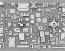 3D asset Aleani Kitbash Pack