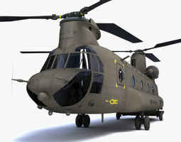 3D Chinook helicopter